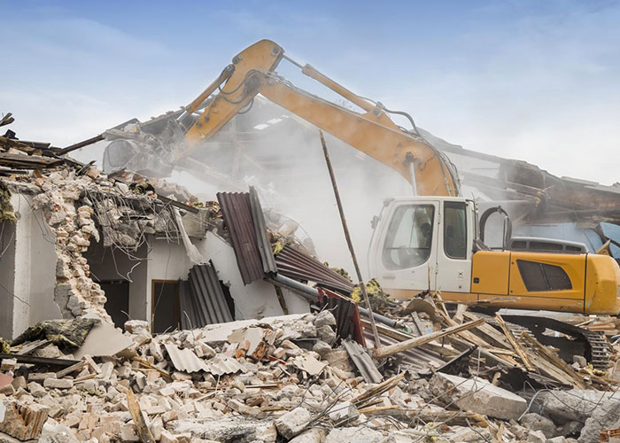 Travaux de démolition à Alès